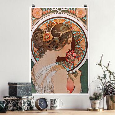 Poster - Alfons Mucha - Primrose - Verticale 3:2