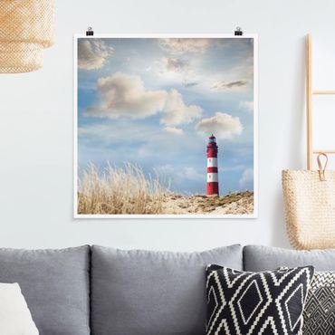 Poster - Faro nelle dune - Quadrato 1:1