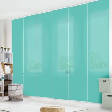 Tenda scorrevole set - Turquoise