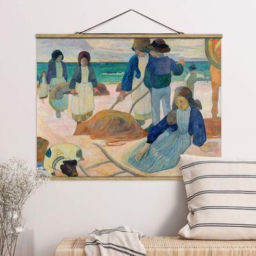 Foto su tessuto da parete con bastone - Paul Gauguin - Alghe Collector - Orizzontale 3:4