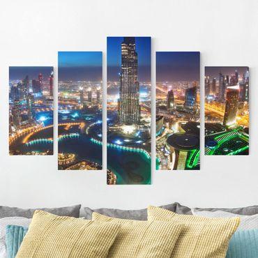 Stampa su tela 5 parti - Dubai Marina