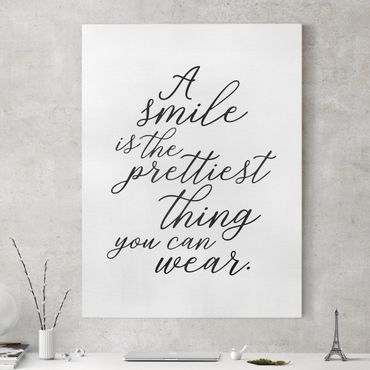 Stampa su tela - A Smile Is The Prettiest Thing - Verticale 3:4