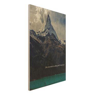 Stampa su legno - Paesaggi lirici - Montagna - Verticale 3:2