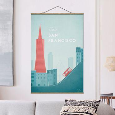 Foto su tessuto da parete con bastone - Poster Travel - San Francisco - Verticale 3:2