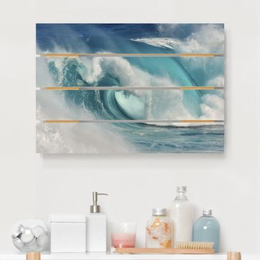 Stampa su legno - Raging Waves - Orizzontale 2:3