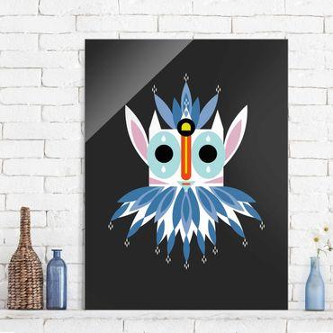 Quadro in vetro - Collage Mask Ethnic - Gnome - Verticale 4:3