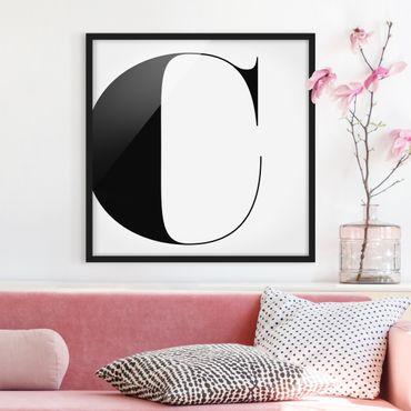 Poster con cornice - Antiqua Letter C - Quadrato 1:1