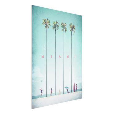 Stampa su Forex - Poster viaggio - Miami - Verticale 4:3