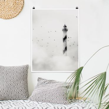 Poster - Faro Nella Nebbia - Verticale 4:3