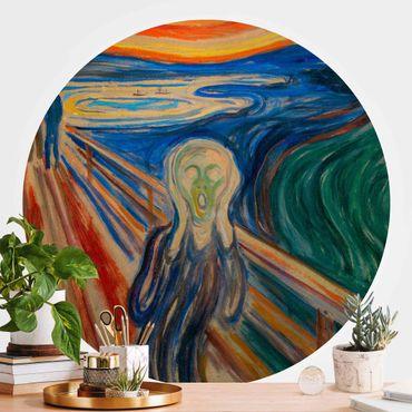 Carta da parati rotonda autoadesiva - Edvard Munch - L'urlo