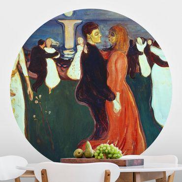 Carta da parati rotonda autoadesiva - Edvard Munch - La danza della vita