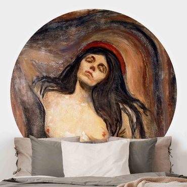 Carta da parati rotonda autoadesiva - Edvard Munch - Madonna