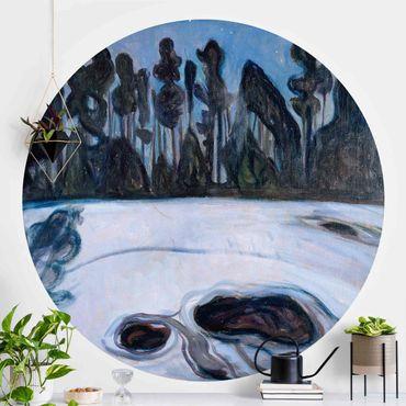 Carta da parati rotonda autoadesiva - Edvard Munch - Notte stellata