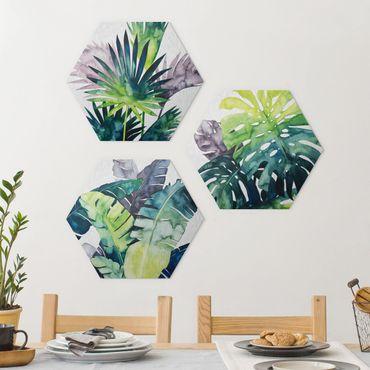 Esagono in Alu-dibond - Exotic Foliage Set II