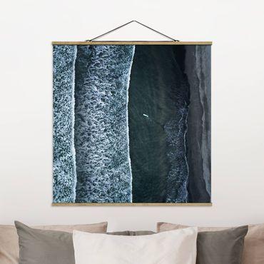 Foto su tessuto da parete con bastone - Veduta aerea - Il Challenger - Quadrato 1:1