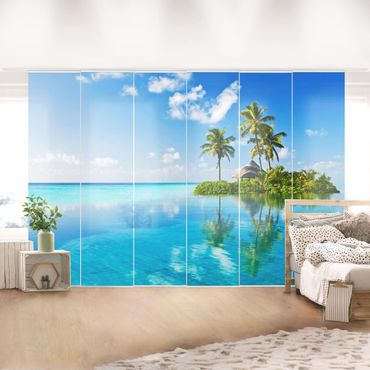 Tende scorrevoli set - Tropical Paradise