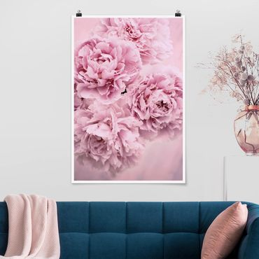 Poster - Peonie rosa - Verticale 3:2