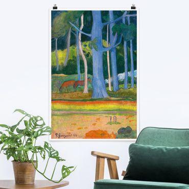 Poster - Paul Gauguin - Paesaggio Foresta - Verticale 3:2