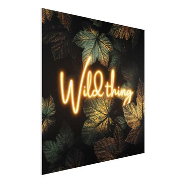 Stampa su Forex - Wild Thing Golden Leaves - Quadrato 1:1