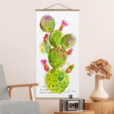 Foto su tessuto da parete con bastone - Cactus Con Versetti della Bibbia III - Verticale 2:1