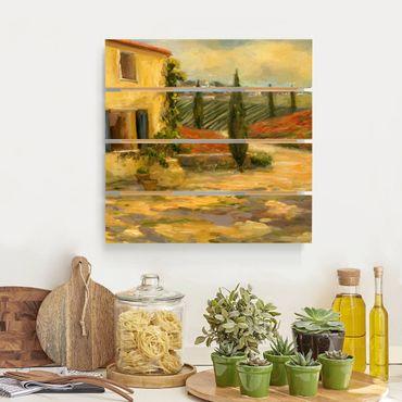 Stampa su legno - Campagna italiana - Toscana - Quadrato 1:1
