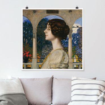 Poster - Franz von Stuck - Ritratto femminile - Quadrato 1:1