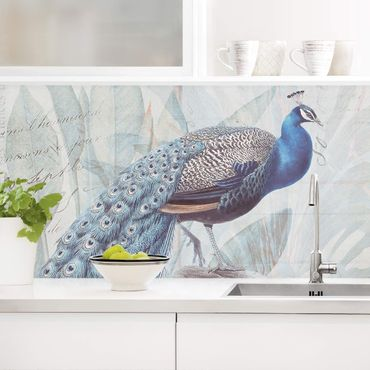 Rivestimento cucina - Shabby Chic Collage - Peacock