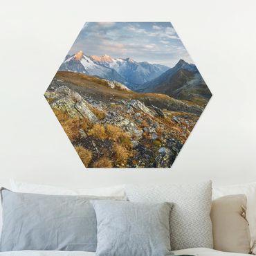 Esagono in Alu-dibond - Col Fenêtre De Svizzera