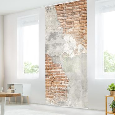 Tende scorrevoli set - Shabby Brick Wall