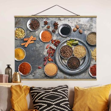 Foto su tessuto da parete con bastone - Shabby Spice Piastra - Orizzontale 3:4