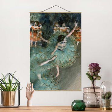 Foto su tessuto da parete con bastone - Edgar Degas - Verde Ballerini - Verticale 3:2