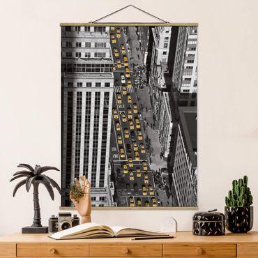 Foto su tessuto da parete con bastone - Taxi Traffico A Manhattan - Verticale 4:3