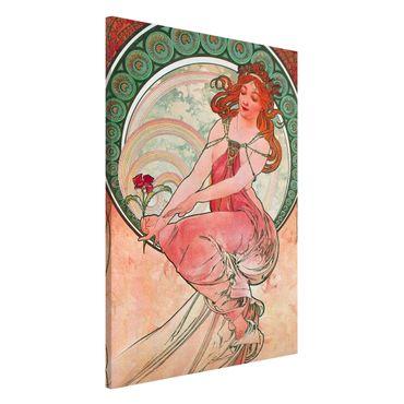 Lavagna magnetica - Alfons Mucha - Quattro arti - Pittura - Formato verticale 2:3