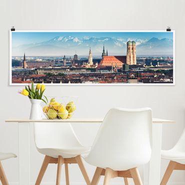 Poster - Monaco - Panorama formato orizzontale