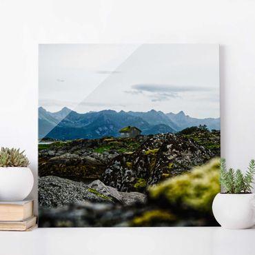 Quadro in vetro - Baita desolata in Norvegia
