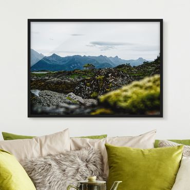 Poster con cornice - Baita desolata in Norvegia