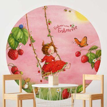 Carta da parati rotonda autoadesiva - Strawberry coniglio Erdbeerfee - Baumschaukel