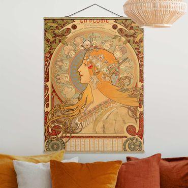 Foto su tessuto da parete con bastone - Alfons Mucha - Segni dello zodiaco - Verticale 4:3