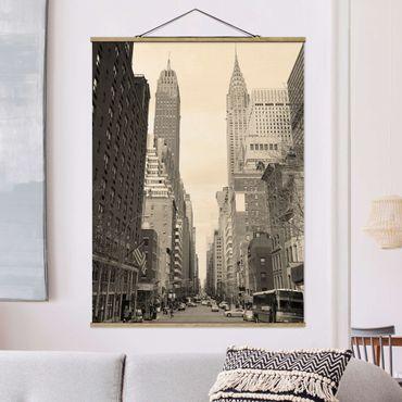 Foto su tessuto da parete con bastone - Stati Uniti d'America Postcard - Verticale 4:3