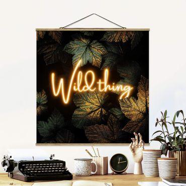 Foto su tessuto da parete con bastone - Elisabeth Fredriksson - Wild Thing Golden Leaves - Quadrato 1:1
