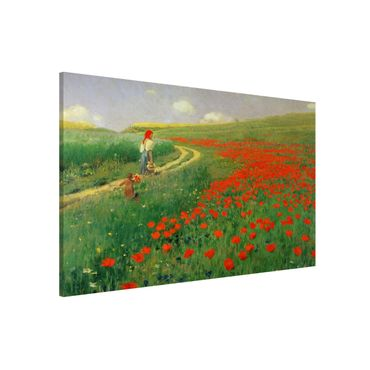 Lavagna magnetica - Pál Szinyei-Merse - Paesaggio estivo con una fioritura di papavero - Formato orizzontale 3:2