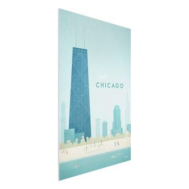 Stampa su Forex - Poster viaggio - Chicago - Verticale 3:2
