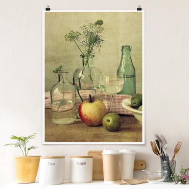 Poster - Natura morta con bottiglie - Verticale 4:3
