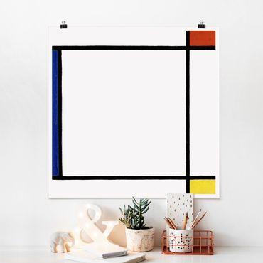 Poster - Piet Mondrian - Composizione III - Quadrato 1:1