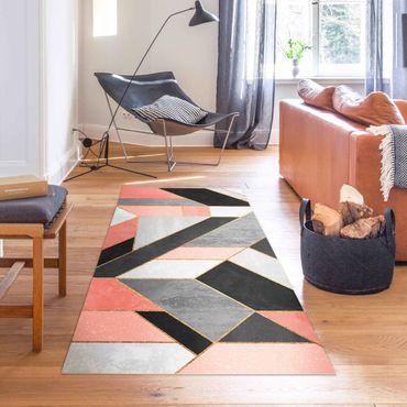 Tappeti in vinile - Elisabeth Fredriksson - Geometria rosa e oro - Verticale 1:2