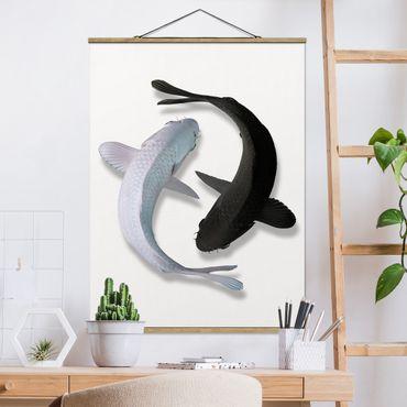 Foto su tessuto da parete con bastone - Pesce Ying Yang - Verticale 4:3