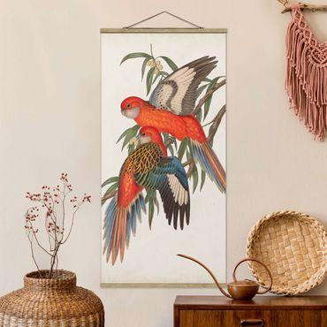 Foto su tessuto da parete con bastone - Tropical Parrot I - Verticale 2:1