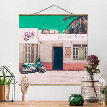 Foto su tessuto da parete con bastone - Minimarket Vintage - Quadrato 1:1