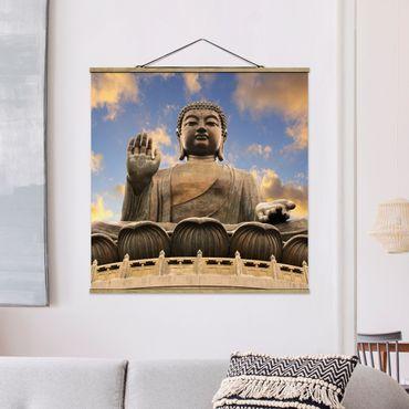 Foto su tessuto da parete con bastone - Big Buddha - Quadrato 1:1