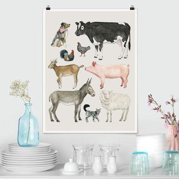 Poster - La fattoria degli animali Famiglia I - Verticale 4:3